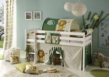 Etagenbett Holz Massiv : Hochbett kinderbett dominik buche vollholz massiv weiß lackiert