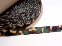 Offray Green Camouflage Grosgrain Ribbon 5/8 inch wide x 10 yards, Camo Ribbon