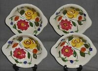 Set (4) Blue Ridge PERFECTION PATTERN Tab Handled CEREAL BOWLS Made in Tennessee