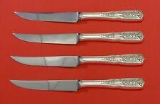 Milburn Rose by Westmorland Sterling Silver Steak Knife Set 4pc HHWS  Custom