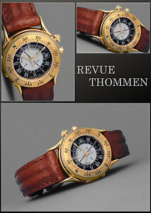 Luxury Revue Thommen Watch Landmark Vintage Rarity Sonnen-Kompass Hinged Lid