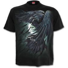 SPIRAL DIRECT SHADOW RAVEN BLACK TShirt/Biker/Tattoo/Skull/Raven/Dead/Tattoo/Top