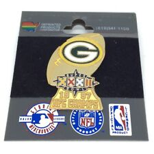 More details for nfl green bay packers 1997 nfc super bowl champions enamel pin badge vintage