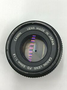 Vintage Canon Lens FD 50mm 1:1.8 Camera Lens Made in Japan Serial 3821534 Used