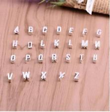 Damen Herren Halskette Herz Buchstaben Letter Anhänger Halsschmuck Modeschmuck