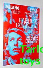 FABRIZIO DE ANDRE' - Milan, italy 1 gennaio 1979  - poster concerto artistico