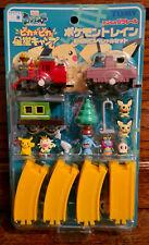 Tomy Pokemon Pikachu Meowth Train Figure Set Wind Up Japanese Sealed 2000s