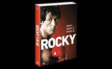 trilogia ROCKY 1 2 3 I II III -3 DVD cofanetto nuovo sigillato slipcover EDICOLA