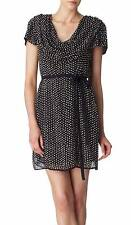 FRENCH CONNECTION Dress Cowel Black Gold Sequin cocktail Mini SZ 2 $428.00 NWT