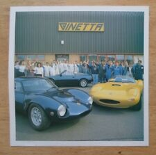 GINETTA CARS orig 1990-91 UK Mkt Company History Leaflet Brochure