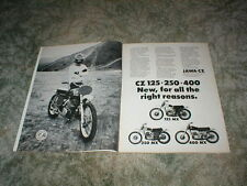 1973 CZ JAWA Cycle ad: 125 MX  250 MX  400 MX  MOTOCROSS Models  2 pages