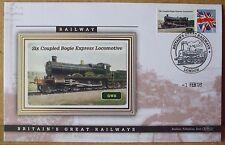 2009 Ltd Ed Benham Error Cover - GWR  Six Coupled Bogie Express Locomotive
