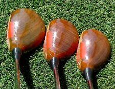 PERSIMMON Cobra U.S.A. Golf Clubs Woods set Driver 3 4 w Stiff Flex & New Grips