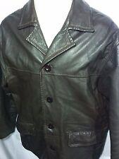 VINTAGE Men's Dean Winchester Leather Supernatural Style Coat Brown Jacket-MED