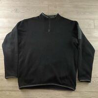 Arc'Teryx 1/4 Zip Fleece Pullover Men's Medium M Black (W47)