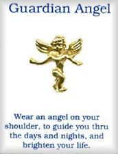 Guardian Angel Classic Lapel or Hat Pin in Gold Plate, Made in USA by OSC, NEW