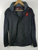 F1 Formula One Mens Jacket Black Small Size S Oversized Zip Through Button