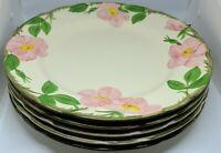 """Set Of 5 Vintage Franciscan Desert Rose Dinner Plates 10.5"""" CA USA"""