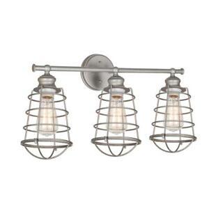Design House Ajax Collection 3-Light Galvanized Indoor Vanity Light