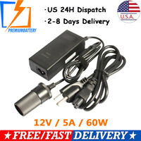 12V 5A Wall Charger Power Supply Adapter Car Cigarette Lighter Socket Converter