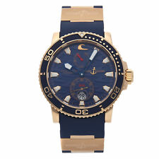 Ulysse Nardin Maxi Marine Blue Surf Chrono LE Gold Auto Mens Watch 266-36LE-3A