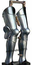 Medieval leg armour Steel Greaves Medieval LARP Armor best quality of iron steel