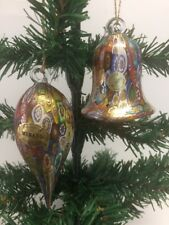Murano Millefiori Multicolor Ornament Teardrop Bell Shaped Italian Art Glass