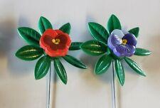 New listing New Vintage 1995 Artline Pansy Flowers garden Pinwheel Wind Spinner whirlygig