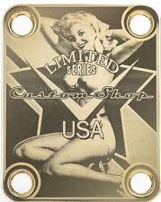 NECK PLATE Custom Shop USA - Limited Series - gold pour guitare et basse