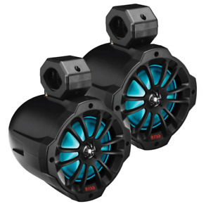 "Boss Audio 6.5"" Amplified Wake Tower Multi-Color Illuminated Speakers - Black [B"