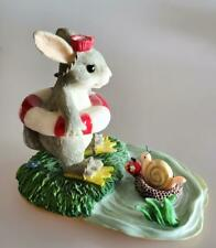 Charming Tails Bunny Figurine Come on in Waters Fine Free Ship