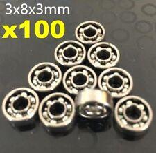 AU Stock X100 MR83 3x8x3mm Open Miniature Bearings Ball Mini Hand Bearing Spiner
