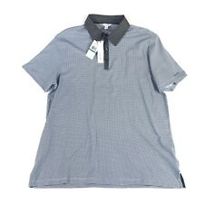 NWT Calvin Klein Mens Size Large Blue And Gray Polo Short Sleeve Golf Shirt