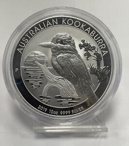 2019 Australia Kookaburra $10 .9999 fine silver 10oz in capsule