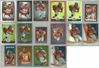 Montee Ball Denver Broncos Wisconsin 16 card 2013 Topps brands RC lot-all diffnt