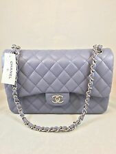 NWT Chanel Lavender Jumbo Flap Lambskin With Silver Hardware