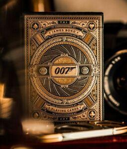 James Bond 007 Premium Playing Cards Gold Foil 3D EmbossTheory11 Poker Magic