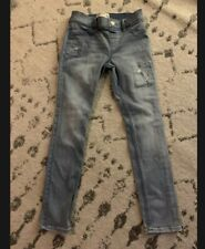 abercrombie kid girls 9/10 skinny jeans blue Stretch pull up Euc Jeggings