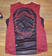 Fila Sport Performance Fitted Muscle Tank Provent Mesh Panels Red Twist Black