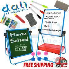Kids Childrens Aluminium Art Easel Activity Magnetic Whiteboard Blackboard