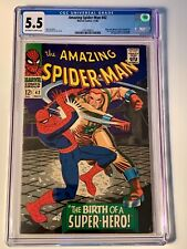 AMAZING SPIDER-MAN #42 CGC 5.5 FN- OW/W Pages 1st Mary Jane Watson! 2nd Rhino!