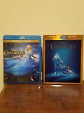 Cinderella 2015 Blu Ray + DVD Rare Best Buy Exclusive Lenticular Slipcover