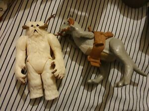 Vintage star wars 1980s Hoth Wampa And Tauntaun With Open Belly In Boxes