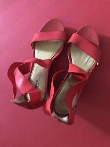 sandalen damenschuhe 39 Rot Geox
