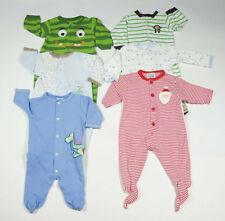 BOYS SIZE 3M 6M SLEEPERS LOT 6  PJ'S  PAJAMAS  FOOTED CARTERS 0-6M
