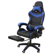 Gaming Chair Ergonomic Computer Office Recliner Footrest Lumbar Massage Support