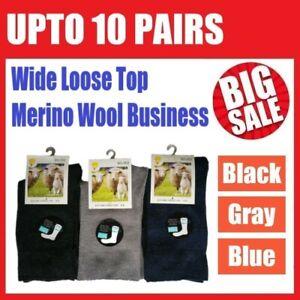 Merino Wool Loose Top Thermal Business Socks Diabetic Comfrt Circulation Medical