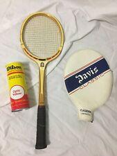 Vintage Davis Classic Tennis Racket Clasiden Laminated & Unopened Wilson Balls