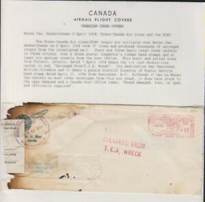 Trans-Canada Airlines Flight 9 Crash Cover April 8 1954 @ Moose Jaw Saskatchewan
