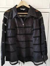 WDNY Black Patchwork Shirt,  Size 20